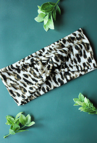 Soft Leopard Brainy Melon® Head Wrap