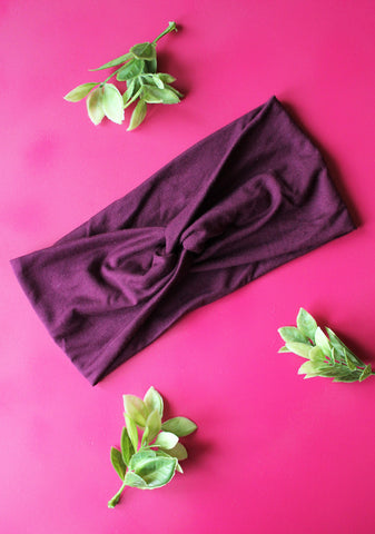 Plum Brainy Melon® Head Wrap