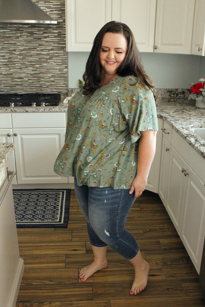 Meredith Blouse in Sage