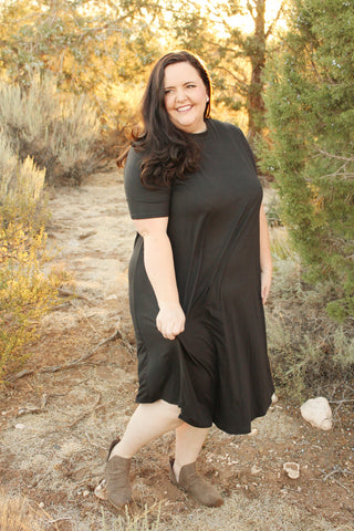 Julie Swing Dress in Black