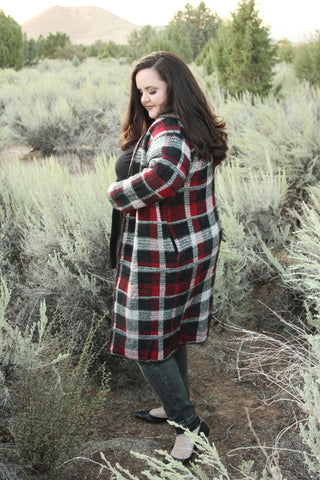 Cozy Buffalo Plaid Cardigan