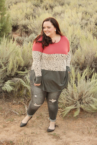 Selena Long Sleeve Tunic Top