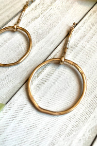 Florence Hoops in Gold