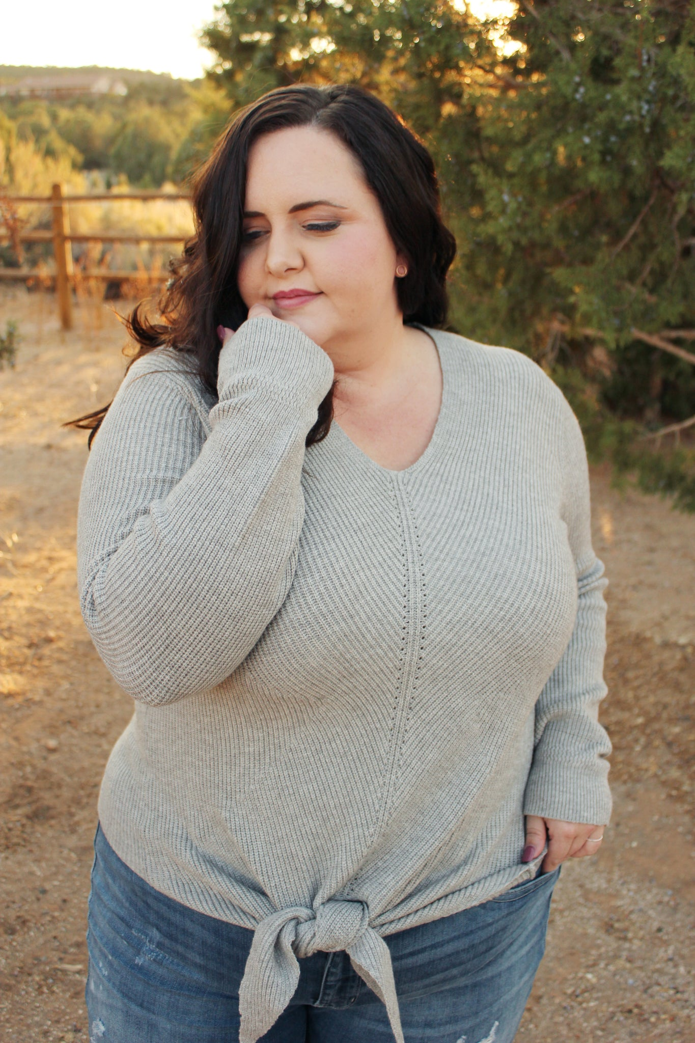 Adela Sweater in Grey