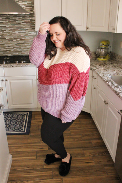 Sweet Candy Chenille Sweater