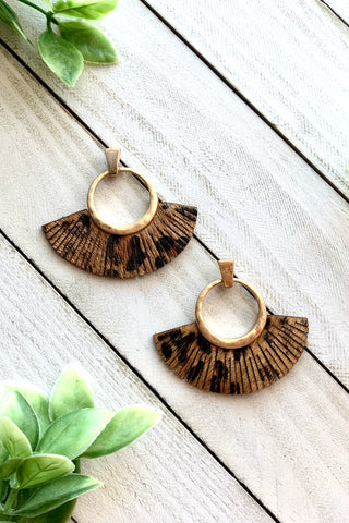 Animal Print Fan Earrings