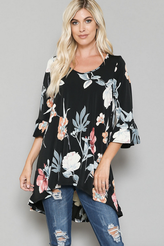 Charlie Floral Top (4X-6X)