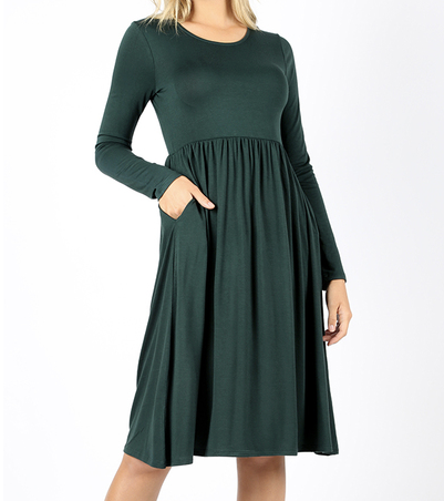 Holiday Party Dress in Emerald