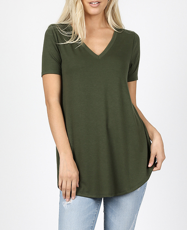 Willow Perfect V-neck Tee - multiple colors