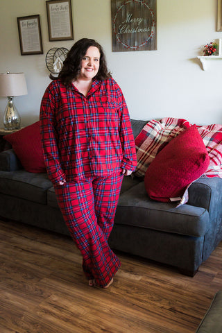Red Plaid Pajama Set