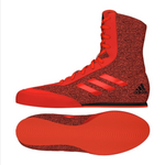 ADIDAS BOX HOG PLUS BOXING BOOTS RED/BLACK
