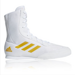 ADIDAS BOX HOG PLUS BOXING BOOTS WHITE/GOLD