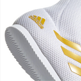 ADIDAS BOX HOG PLUS BOXING BOOTS WHITE/GOLD HEEL