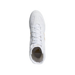ADIDAS BOX HOG PLUS BOXING BOOTS WHITE/GOLD TOP