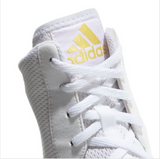 ADIDAS BOX HOG PLUS BOXING BOOTS WHITE/GOLD TONGUE