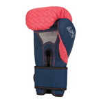 CENTURY BRAVE LADIES BOXING GLOVES CORAL/NAVY INSIDE