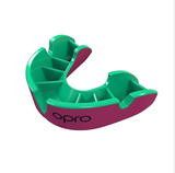 OPRO SILVER GEN 4 MOUTH GUARD PINK/GREEN