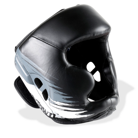 PUNCHTOWN KRANION KR HEAD GUARD BLACK/WHITE FRONT