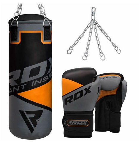 RDX 2FT ORANGE PUNCH BAG & GLOVES SET