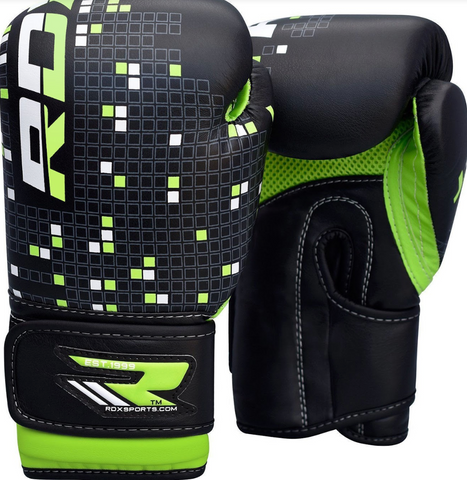 RDX 3B DINO KIDS BOXING GLOVES GREEN