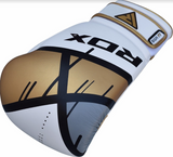 RDX F7 EGO BOXING GLOVES GOLD FRONT