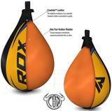RDX S2 Leather Speed Punching Ball Yellow FEATURES