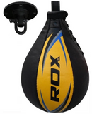 RDX S2 Leather Speed Punching Ball Yellow FITTING
