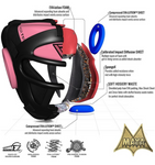 RDX T1 PINK HEAD GUARD WITH FACE CAGE FEATURES