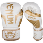 VENUM ELITE BOXING GLOVES WHITE/GOLD