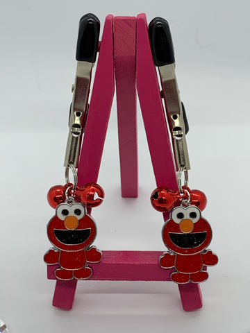 Elmo (inspired) adjustable nipple clamps with bells
