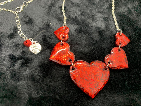 Valentines statement heart necklace