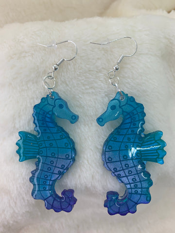 Seahorse dangly earrings