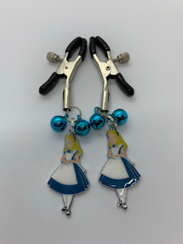 Alice (inspired) adjustable nipple clamps, with bells