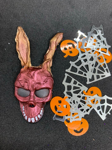 Horror hare brooch