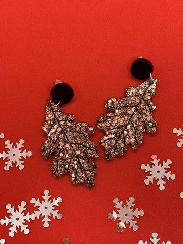 Autumn leaf stud/dangly earrings