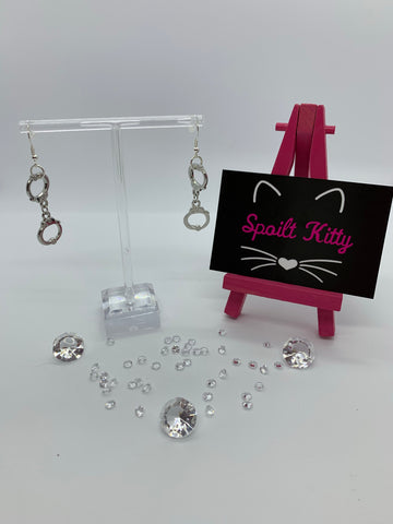 Dangly handcuffs earrings