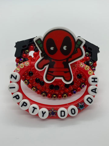 Deadpool (inspired) adult decorated pacifier/binky