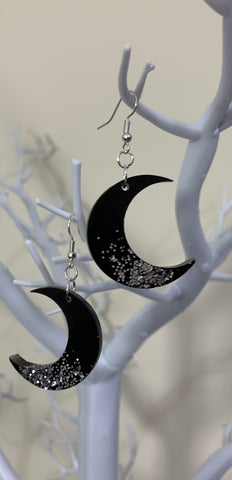 Moon earrings (dangly)