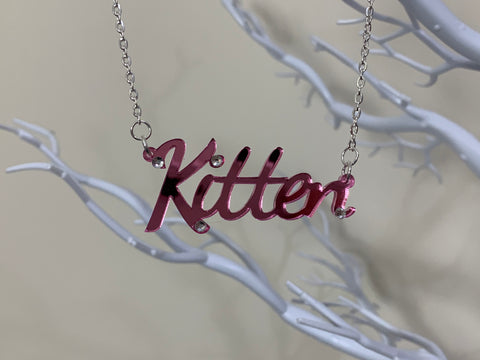 Kitten necklace (mirrored)