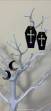 Large coffin earrings (dangly)