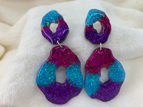 Geode dangly earrings