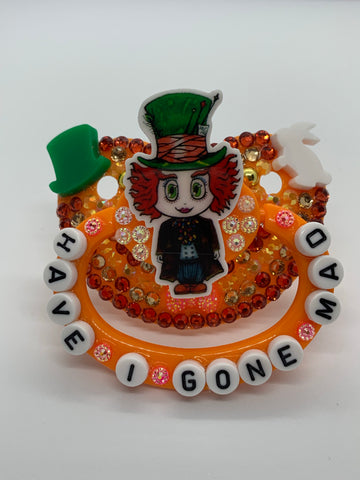 Mad Hatter adult decorated pacifier/binky