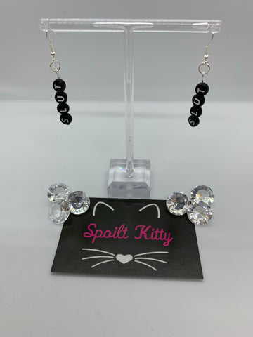 "Naughty Alphabet - ""Slut"" earrings"
