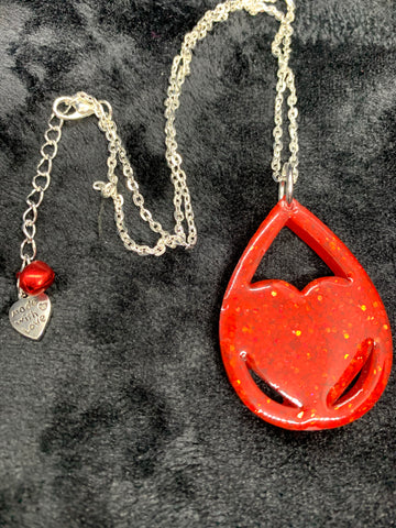 Teardrop heart necklace