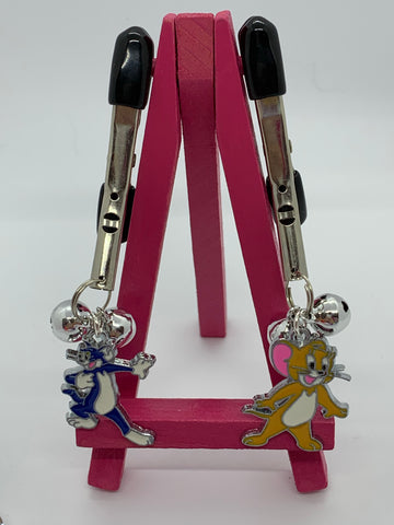 Tom and Jerry (inspired) adjustable nipple clamps with bells