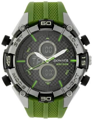 Sonata Ocean Series III Analog Multi-Color Dial Men's Watch - NK77028PP02