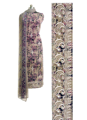 Vinay's Partywear Unstiched Printed Dress Material