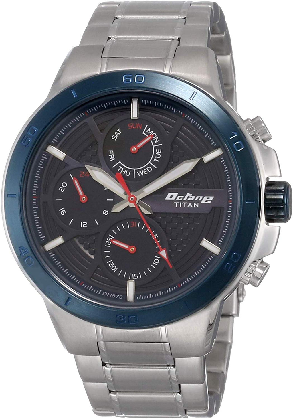 Titan Octane All Metal Analog Blue Dial Men's Watch - 90091KM01
