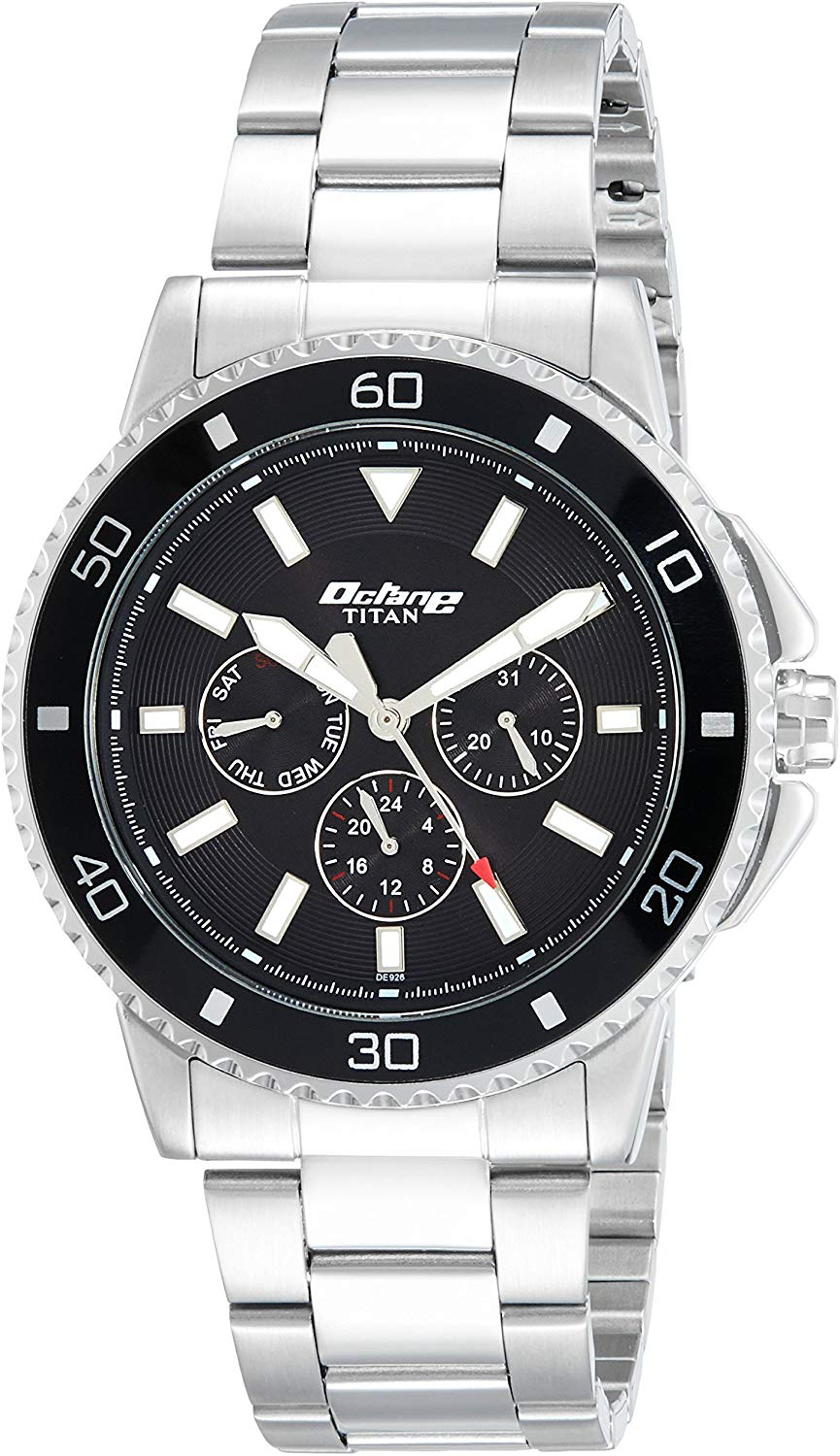 Titan Octane Analog Black Dial Men's Watch - NK90040KM01