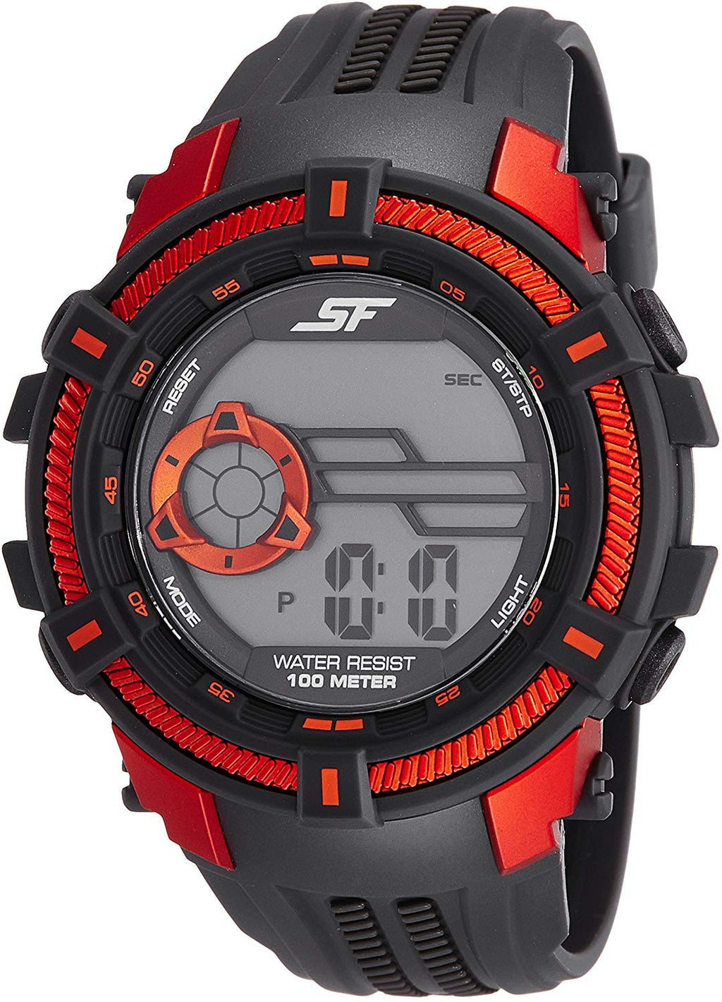 Sonata Fibre (SF) Digital Grey Dial Men's Watch-77080PP04